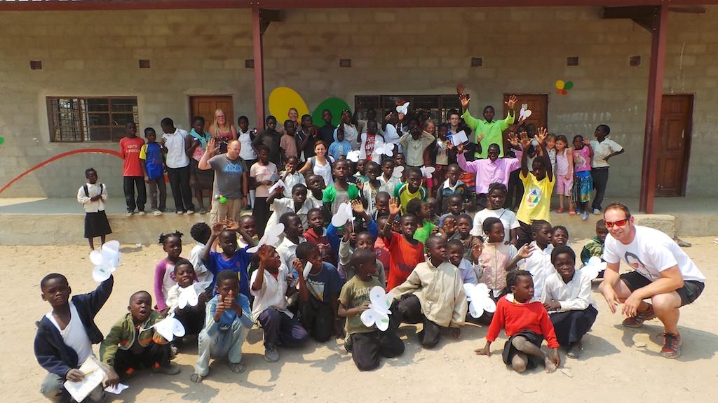 Some of the children from Nayamba School
